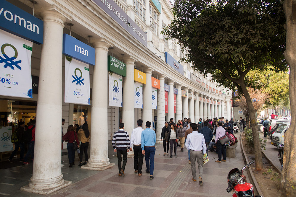 Connaught Place shops - Happymind Travels