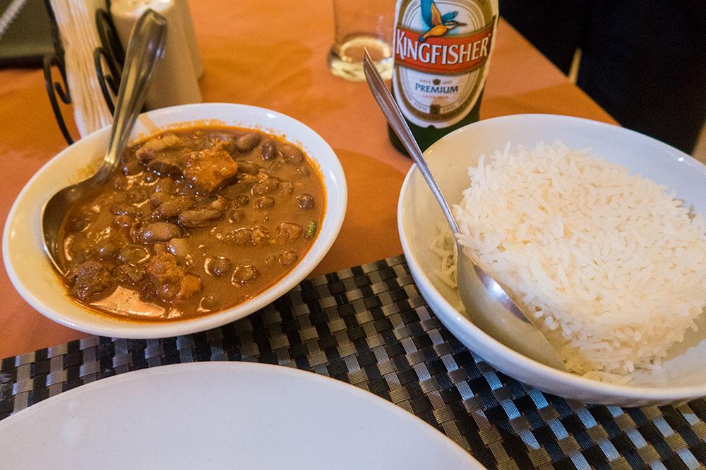Feijoada - Portuguese dish at Horseshoe Restaurant in Panaji | Happymind Travels