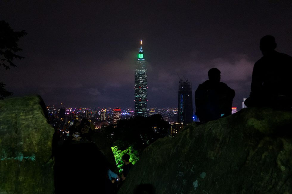 Taipei 101 seen at night from Elephant Mountain | Happymind Travels