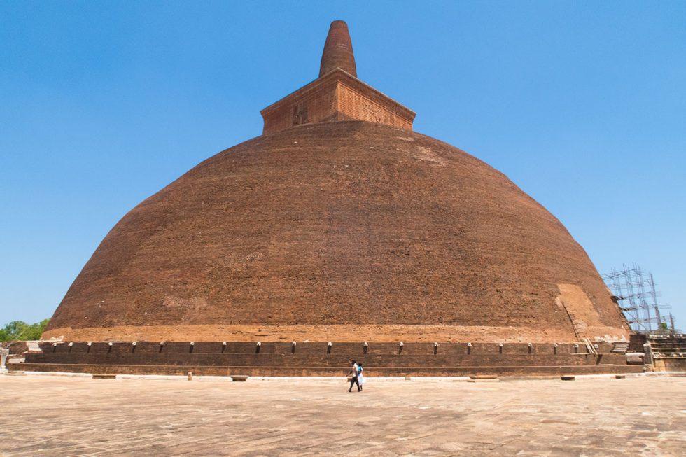 Stupa in the old city of Anuradhapura - Sri Lanka | Happymind Travels