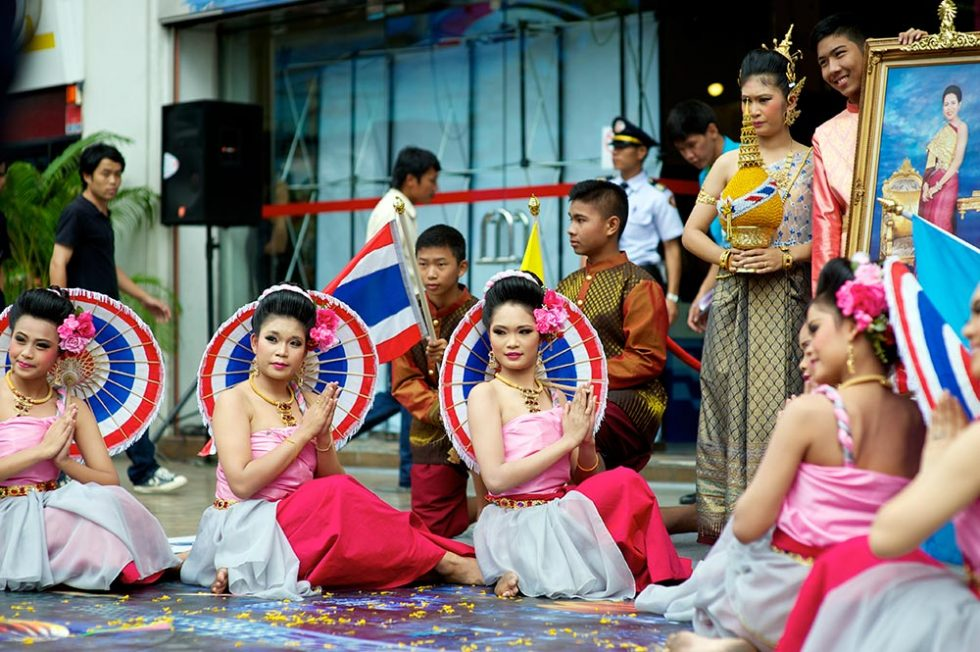 Thai Traditional Ceremony on Queen's Day | Happymind Travels