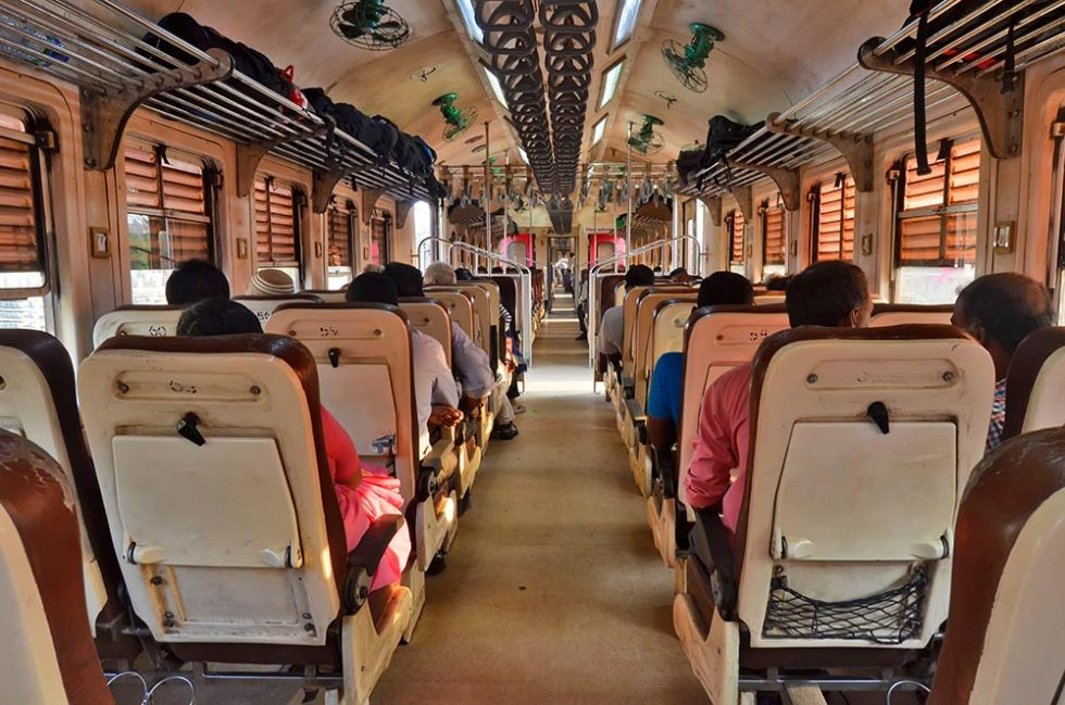 Train in Jaffna, Sri Lanka in reserved second class | Happymind Travels