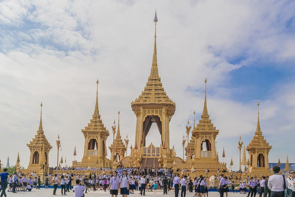 The Royal Crematorium for King Bhumibol Adulyadej in Sanam Luang | Happymind Travels