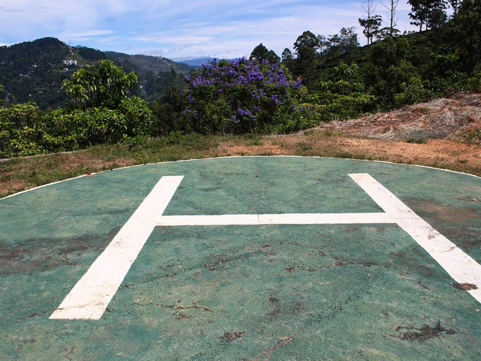 Helipad in Little Adams Peak in Ella, Sri Lanka | Happymind Travels