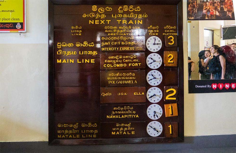 Kandy Railway Station Placard - Sri Lanka - Happymind Travels