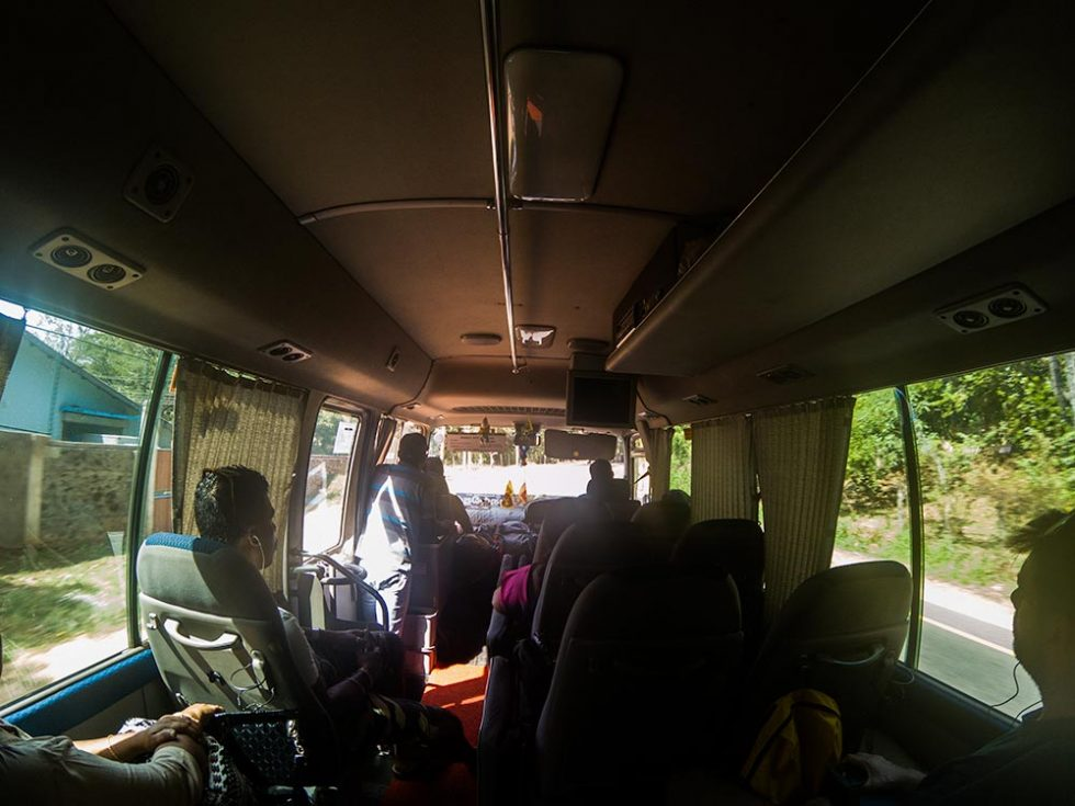 Minivan on the Trip from Kandy to Dambulla, Sri Lanka | Happymind Travels