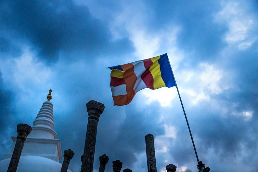Stupa in Anuradhapura with the sky loaded with clouds | Sri Lanka