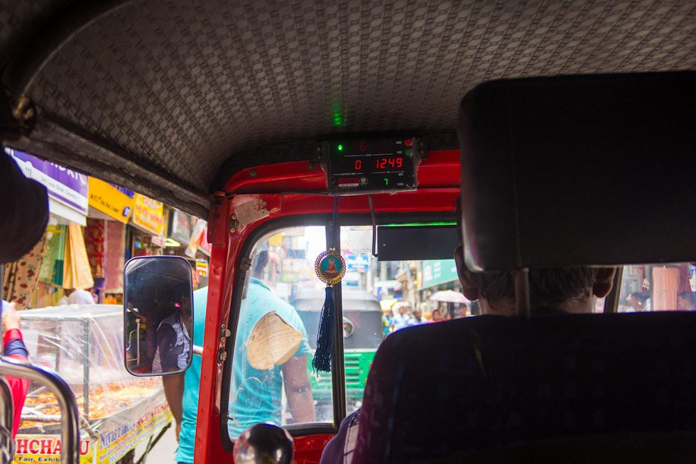 Uber Tuk Tuk on the streets of Colombo, Sri Lanka | Happymind Travels