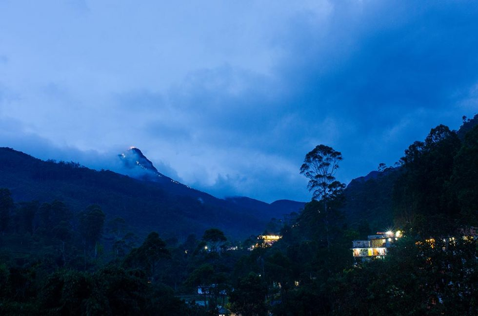 The Adams Peak on far away, during the morning | Happymind Travels
