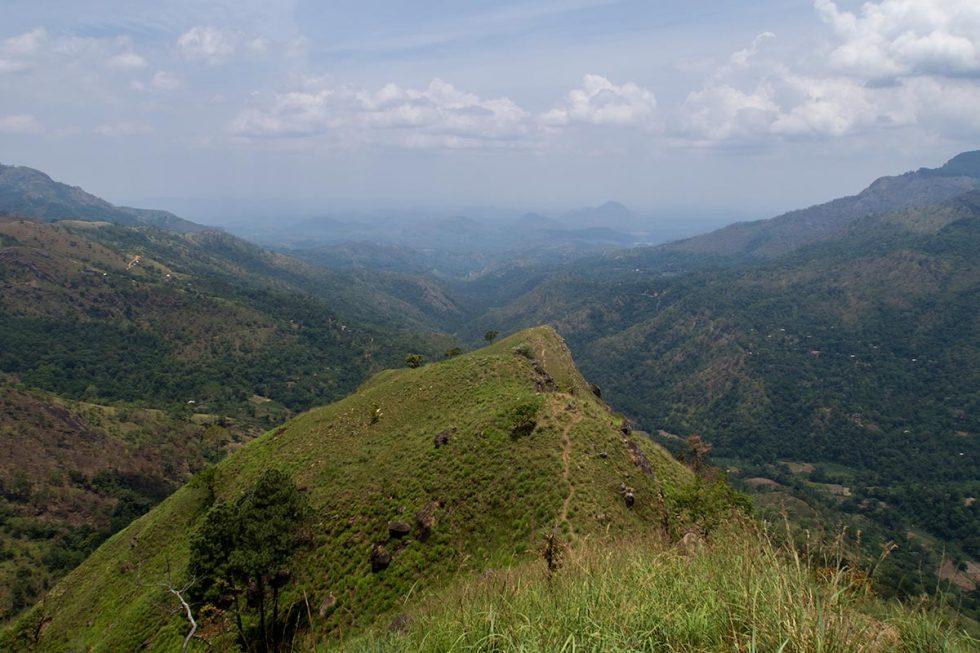View from above Mountain of Little Adams Peak in Ella, Sri Lanka | Happymind Travels