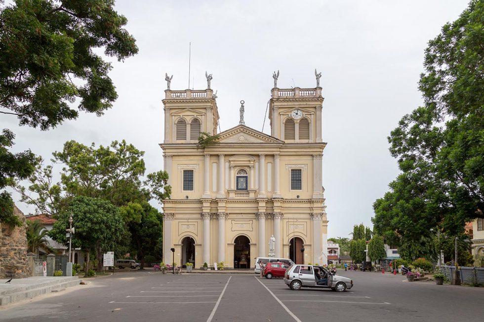 Exterior of the Santa Maria Church in Negombo, Sri Lanka   Happymind Travels