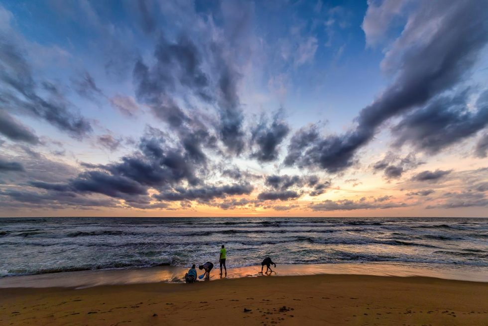 Sunset on Negombo beach with its natural and vibrant colors   Happymind Travels
