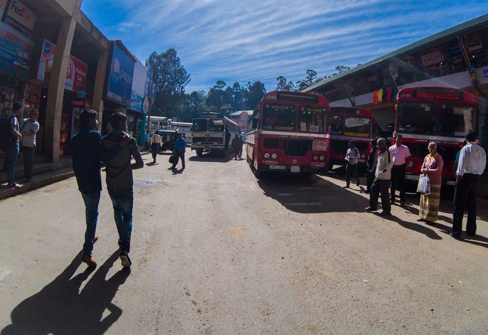Bus Station in Nuwara Eliya, Sri Lanka | Happymind Travels