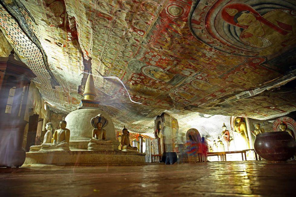 Inside the Cave Temple in Dambulla, Sri Lanka | Happymind Travels